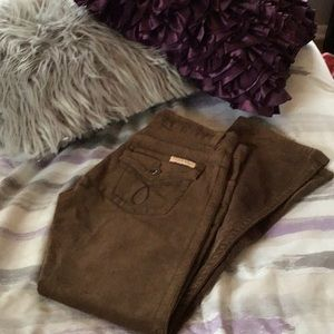 CALVIN KLEIN JEANS BROWN CORDUROY BOOT CUT PANTS